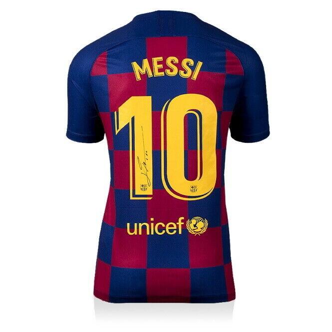 camiseta Messi firmada