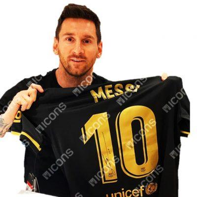 camiseta negra barcelona messi