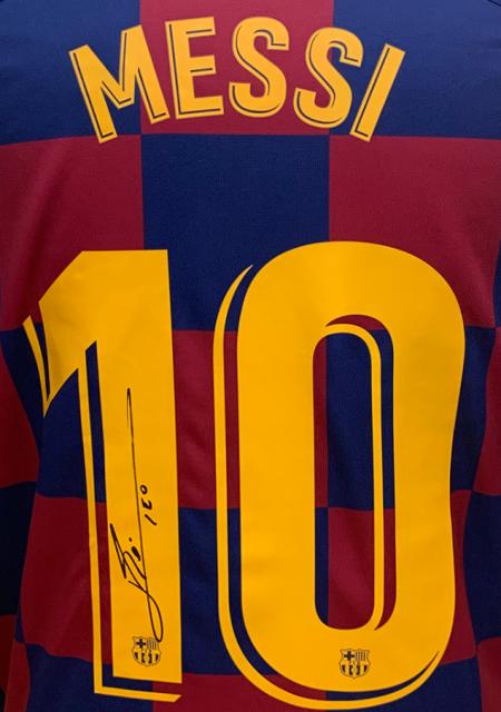 autografo de Messi